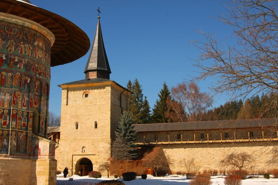 Turnul porţii văzut din interior